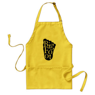 Bigfoot! Sasquatch Big Foot Yeti Adult Apron