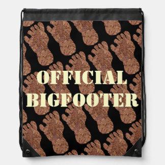 Bigfoot Sasquatch Cryptid Official Bigfooter Pack Drawstring Backpacks