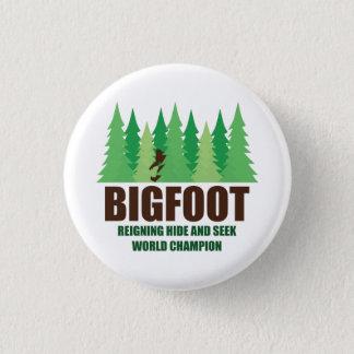 Bigfoot Sasquatch Hide and Seek World Champion Button