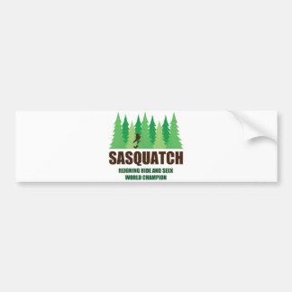 Bigfoot Sasquatch Hide and Seek World Champion Car Bumper Sticker