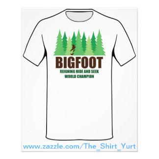 Bigfoot Sasquatch Hide and Seek World Champion Flyer