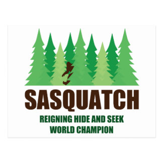 Bigfoot Sasquatch Hide and Seek World Champion Postcard