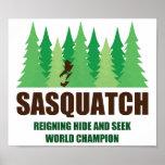 Bigfoot Sasquatch Hide and Seek World Champion Posters