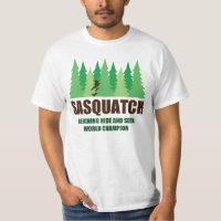 Bigfoot Sasquatch Hide and Seek World Champion T-Shirt