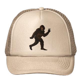 Bigfoot Sasquatch Peace Trucker Hat