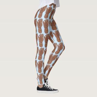 Bigfoot Sasquatch Track Squatchy Pattern Fashion Leggings