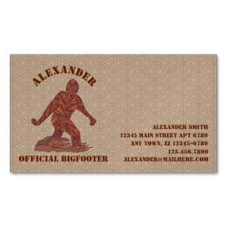 Bigfoot Sasquatch Yeti Cryptid Creature Fun Magnetic Business Cards (Pack Of 25)