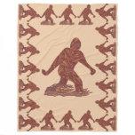 Bigfoot Sasquatch Yeti Cryptid Creature Fun Fleece Blanket