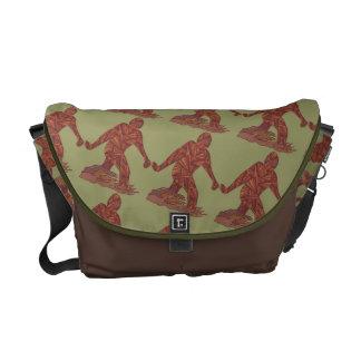 Bigfoot Sasquatch Yeti Cryptid Fun Geek Pattern Messenger Bags