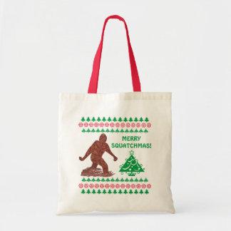 Bigfoot Sasquatch Yeti Cryptid Funny Christmas Tote Bag