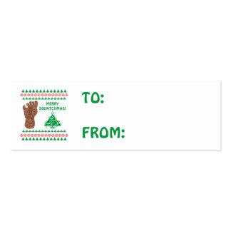 Bigfoot Sasquatch Yeti Cryptid Funny Christmas Business Card Templates