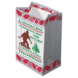 Bigfoot Sasquatch Yeti Cryptid Funny Christmas Medium Gift Bag