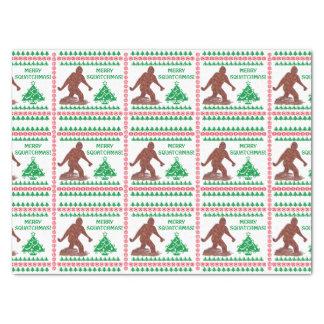 "Bigfoot Sasquatch Yeti Cryptid Funny Christmas 15"" X 20"" Tissue Paper"