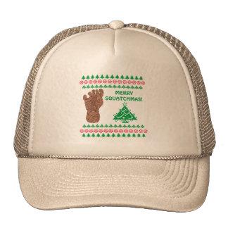 Bigfoot Sasquatch Yeti Cryptid Funny Christmas Trucker Hats