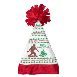 Bigfoot Sasquatch Yeti Cryptid Funny Christmas Santa Hat