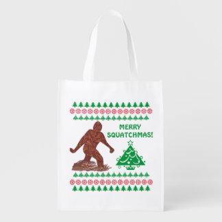 Bigfoot Sasquatch Yeti Cryptid Funny Christmas Market Tote