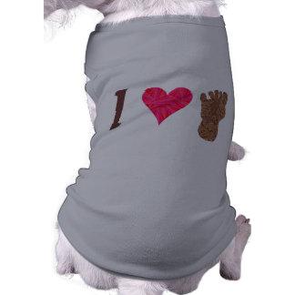 Bigfoot Sasquatch Yeti Cryptid I Heart Bigfoot Doggie T Shirt