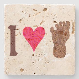Bigfoot Sasquatch Yeti Cryptid I Heart Bigfoot Stone Coaster