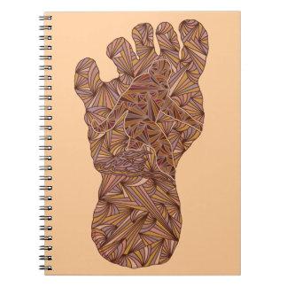Bigfoot Sasquatch Yeti Fun Geek Spiral Spiral Notebooks