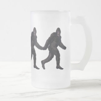 Bigfoot Sasquatch Yetti 16 Oz Frosted Glass Beer Mug