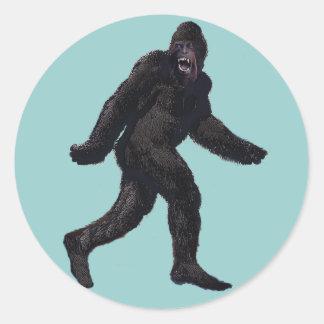 Bigfoot Sasquatch Yetti Pegatina Redonda