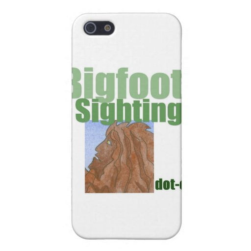 Bigfoot Sightings Logo Case For iPhone 5/5S