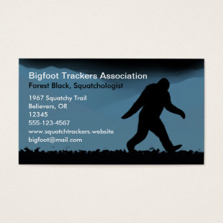 Bigfoot Silhouette at Night Business Card
