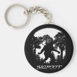 Bigfoot Silhouette Basic Round Button Keychain