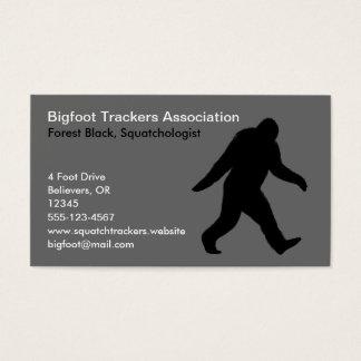 Bigfoot Silhouette Business Card