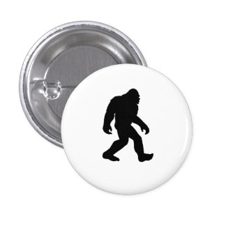 Bigfoot Silhouette Button