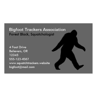 Bigfoot Silhouette Double-Sided Standard Business Cards (Pack Of 100)