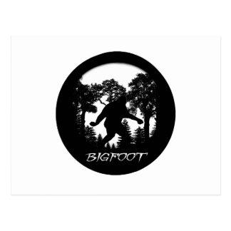 Bigfoot Silhouette Postcard