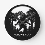 Bigfoot Silhouette Round Wall Clock