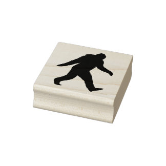 Bigfoot Silhouette Rubber Stamp