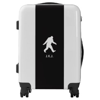 Bigfoot Silhouette with Custom Text Luggage