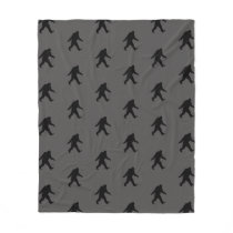 Bigfoot Silhouettes Pattern Fleece Blanket