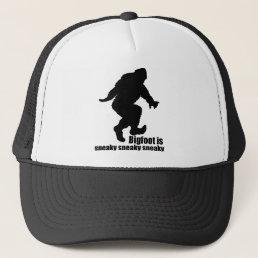 Bigfoot sneaky sneaky trucker hat