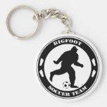 Bigfoot Soccer Team Basic Round Button Keychain