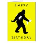 Bigfoot sorprendió felicitación