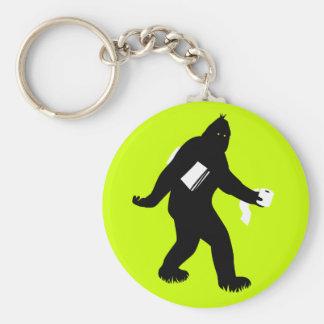Bigfoot sorprendió llavero redondo tipo pin