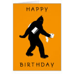 Bigfoot sorprendió tarjeta de felicitación