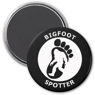 Bigfoot Spotter 3 Inch Round Magnet