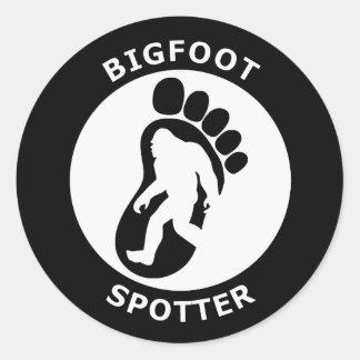 Bigfoot Spotter Classic Round Sticker