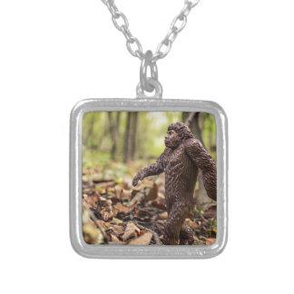 Bigfoot Square Pendant Necklace | Sasquatch