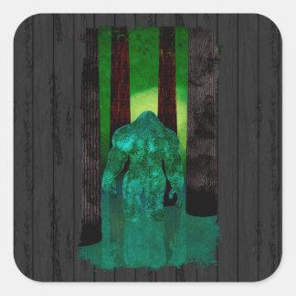 Bigfoot Square Sticker