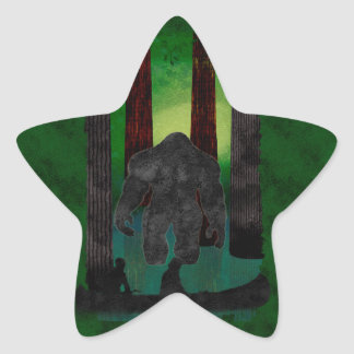 bigfoot star sticker