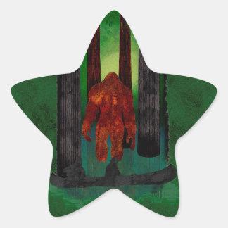 Bigfoot Star Sticker