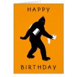 Bigfoot Surprised Card