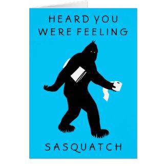 Bigfoot Surprised (Get Well) Greeting Card