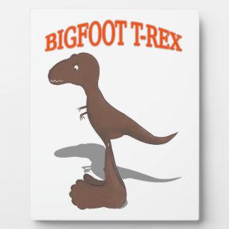 Bigfoot T-Rex Drawing Plaque